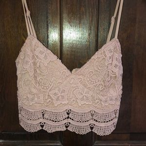 Size S Lace crop top! Cute and great condition